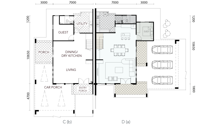 Serene Shangrila Two & A Half Storey Semi-Detached House Ground Floor Plan