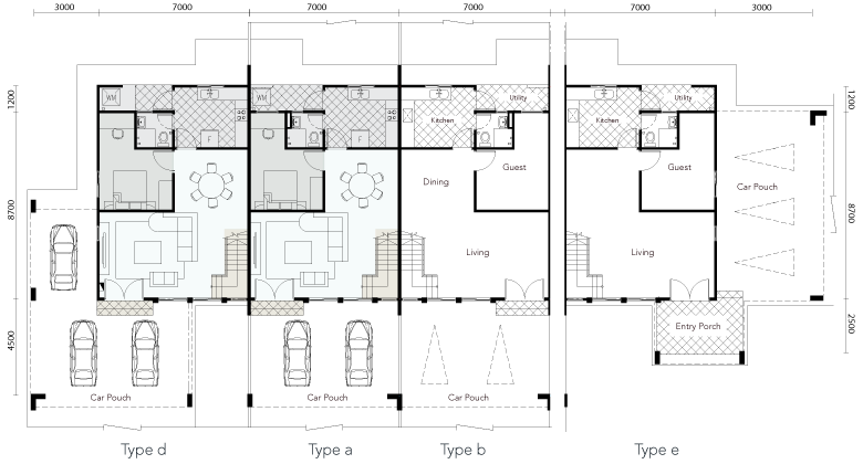 Serene Shangrila Two Storey Terrace House Ground Floor Plan