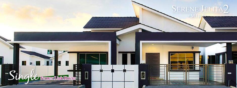 Serene jelita 2 single storey link house taman jelita for Single storey bungalow design